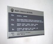 南通市人民防空办公室楼层索引牌