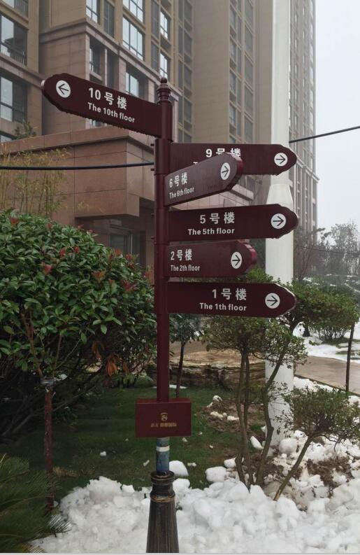 鑫舵标识制作开封小区指示牌
