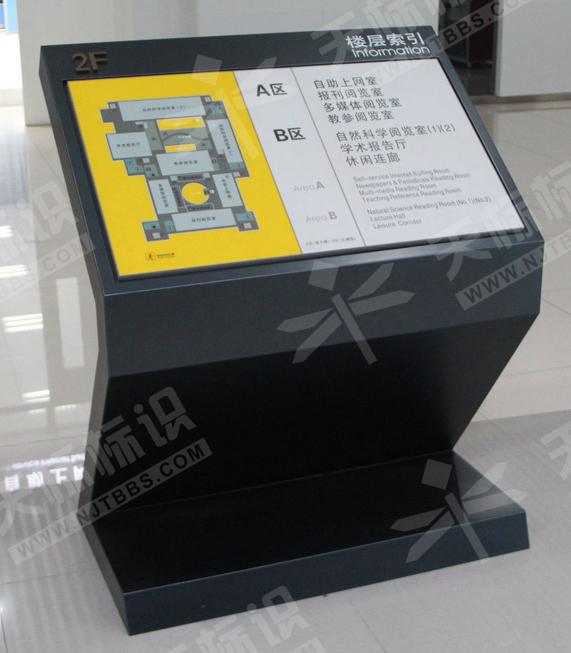 南京晓庄学院图书馆楼层索引牌