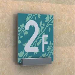 酒店室內樓號牌門牌