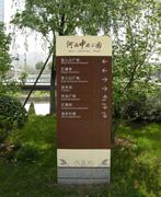 南京河西中央公园户外指示牌