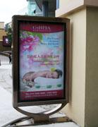 欧尼雅美容养生会所宣传牌