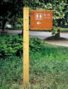 公园厕所指示牌