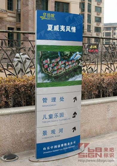 山东华侨城区域指示牌_房地产标识标牌_来吧标识标牌图片
