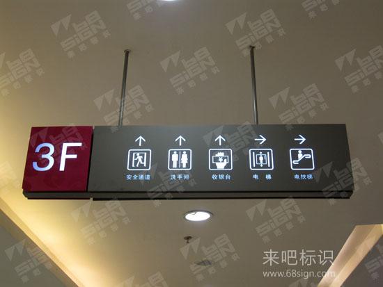 购物中心楼层指示吊牌灯箱_商场标识标牌_来吧标识标牌图片