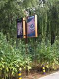 北京朝阳蟹岛度假区道旗灯箱