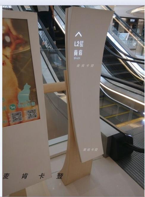 上海百盛商场指示牌