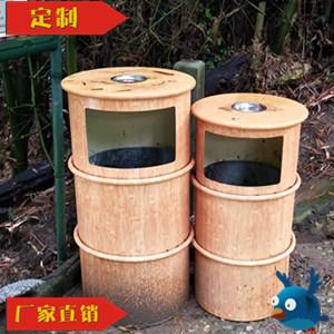 厂家直销景区公园仿竹纹垃圾桶