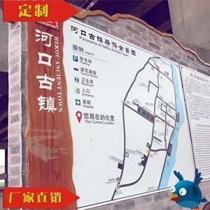 甘肃河口古镇仿木纹总导览图