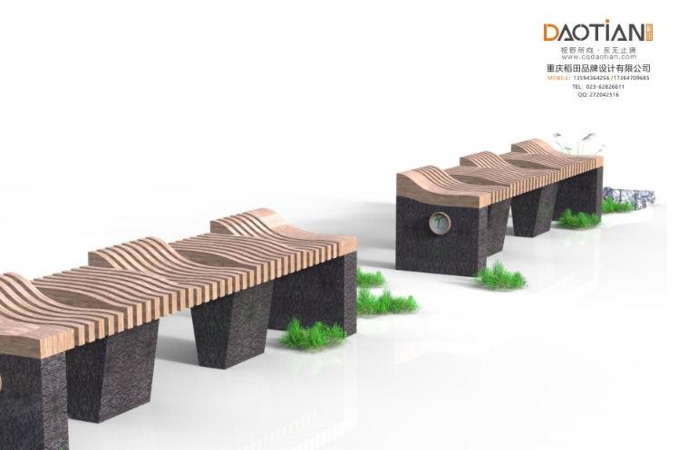 旅游景区实木椅子