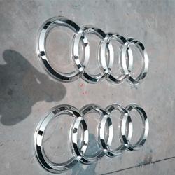 奥迪4S店招牌logo不锈钢三维立体门头车标吸塑镀铬logo