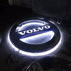 沃尔沃背光logo不锈钢三维立体门头招牌车标