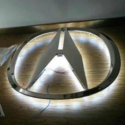 讴歌车标不锈钢三维立体发光logo门头招牌背景墙标志